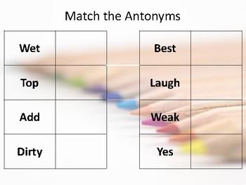 Antonyms Match