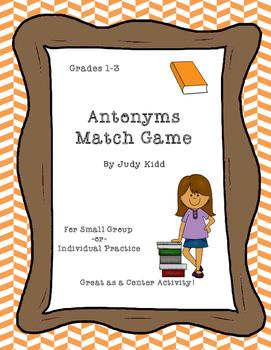 Antonyms Match Game