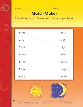 Antonyms--Match Maker Literacy Center