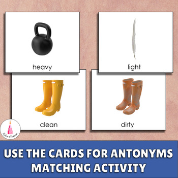 Antonyms Matching Activity (Opposites Matching Cards)