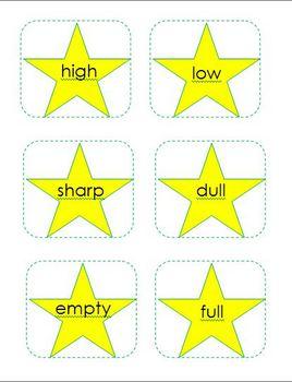 Antonyms Matching Cards