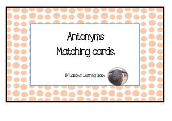 Antonyms Matching Cards Activity