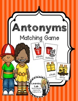 Antonyms Matching Game