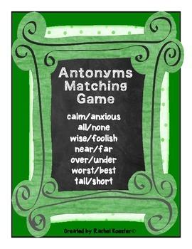 Antonyms Matching Game