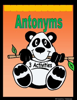 Antonyms: Matching, Memory, Go Fish (Center Activities)