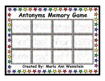 Antonyms Memory Game