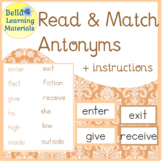 Antonyms - Montessori Word Study