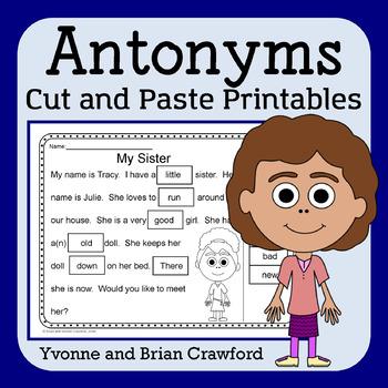 Antonyms Cut and Paste Printables