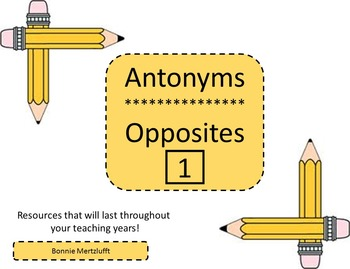Antonyms, Opposites 1