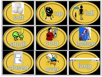Antonyms (Opposites) Matching Literacy Station Daily 5 Word Work Activity