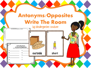 Antonyms/Opposites Write The Room