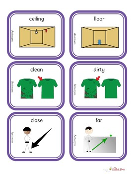 Antonyms Picture and Task Cards (STACK)