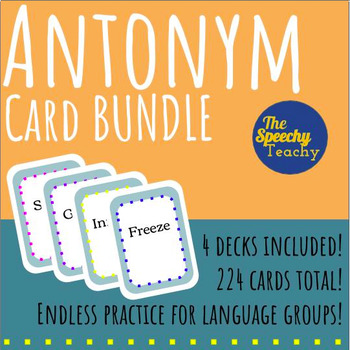 Antonyms Playing Cards Level 1