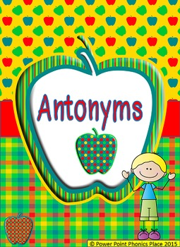 Antonyms Power Point and Printables