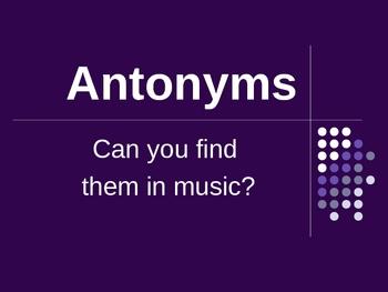 Antonyms PowerPoint activity