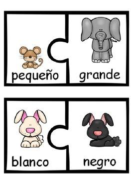 Antonyms Puzzles In Spanish