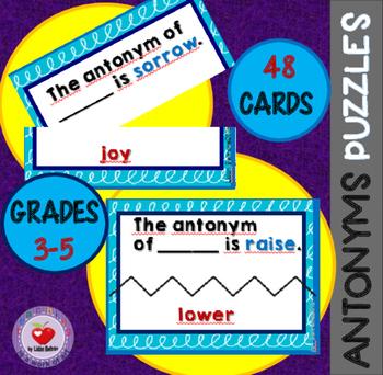 Antonyms Puzzles for Grades 3-5
