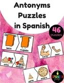 Antonyms Puzzles in Spanish Rompecabezas de antonimos opuestos