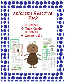 Antonyms Resource Pack