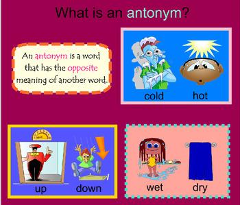 Antonyms SMARTBoard Activities