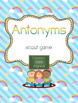 Antonyms Scoot- Common Core Aligned