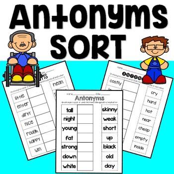 Antonyms Short Worksheets