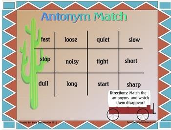 Antonyms-Smartboard Lesson Grade 2-4