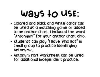 Antonyms Match Up