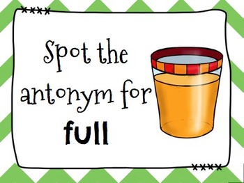 Antonyms Spot It & Steal It Game