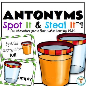 Antonyms Spot It & Steal It Game