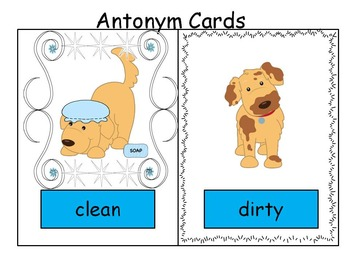 Antonyms - Story, Worksheets