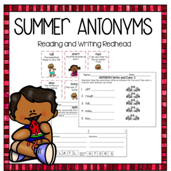 Antonyms Summer Fun