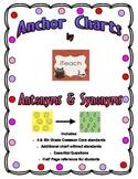 Antonyms & Synonyms Anchor Chart