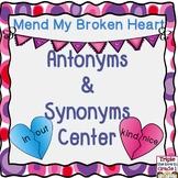 Antonyms & Synonyms Center - Valentine Theme
