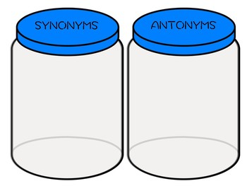 Antonyms + Synonyms Cookie Jars