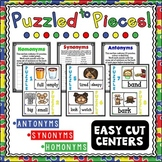 Antonyms Synonyms Homonyms Center Puzzles