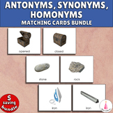 Antonyms, Synonyms, Homonyms Matching Activities Bundle Mo