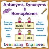 2nd Grade Language: Antonyms and Synonyms and Homophones Grammar Practice