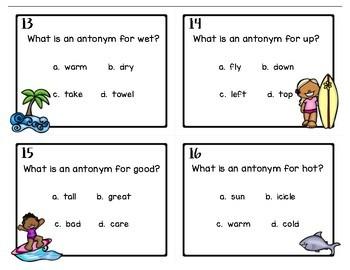 Antonyms & Synonyms Task Cards