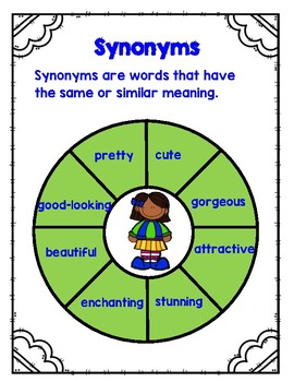 Antonyms, Synonyms and Analogies