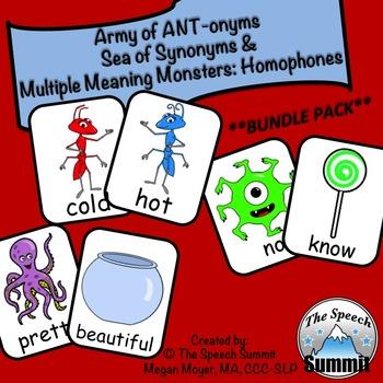 Antonyms, Synonyms, and Homophones Bundle Pack