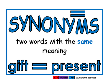 Antonyms/Synonyms blue