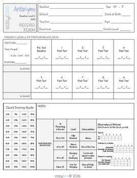 Antonyms Test 4th Grade