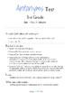 Antonyms Tests (6 Tests) Kinder - 5th Grade