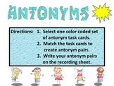 Antonym Task Cards!!  They are great for reading and writi