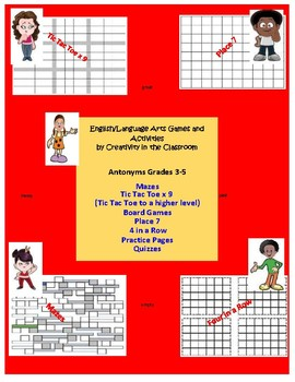 Antonyms - Variety of Games for Grades 3-5