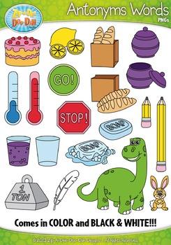 Antonyms Word Clipart {Zip-A-Dee-Doo-Dah Designs}