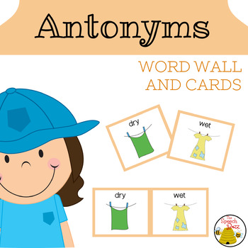Antonyms Word Wall and Cards