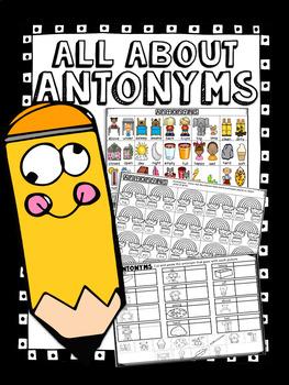 Antonyms Word Work! - No Prep!