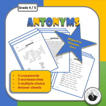 Antonyms Worksheets: Crosswords, Wordsearches, Multiple Choice